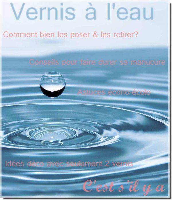 livret d'informations vernis à ongles à base d'eau